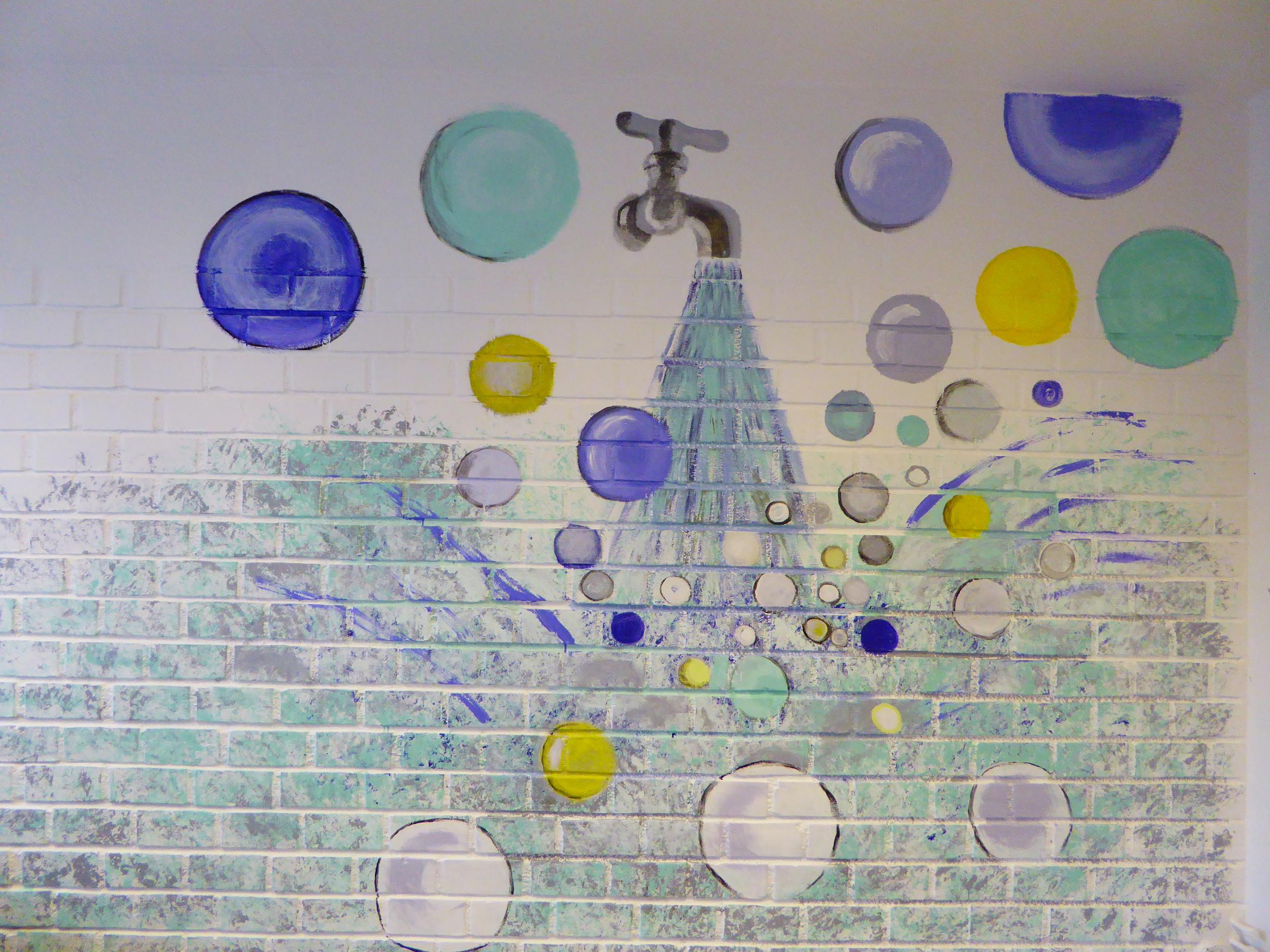 Veggmaleri rett på vegg
