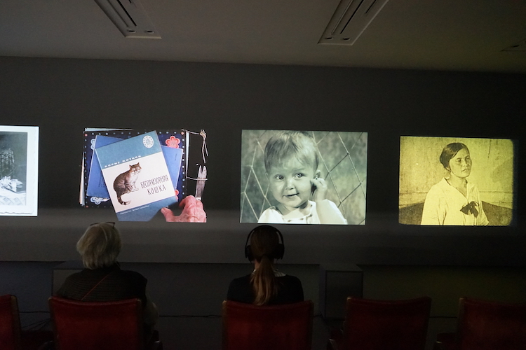 Works by Yervant Gianikian and Angela Ricci Lucchi. Photo: Sabina Enéa Téari