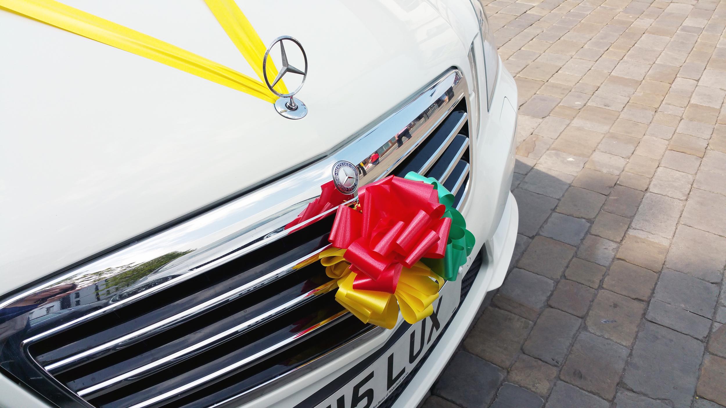 Jamaican Wedding Car Ribbons