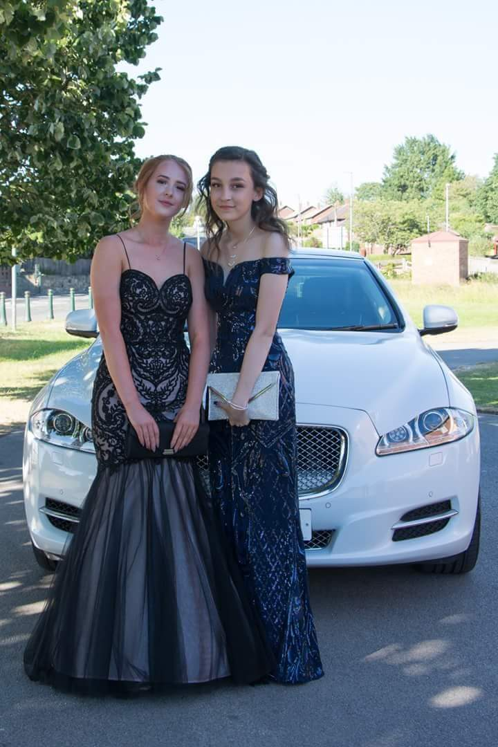 Jaguar Prom Car at Burntwood Court in Yorkshire