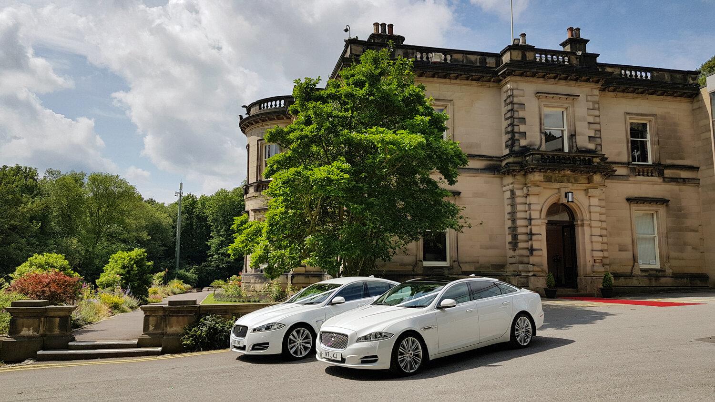 Jaguar Wedding Cars Near Me at Tapton Hall, Sheffield