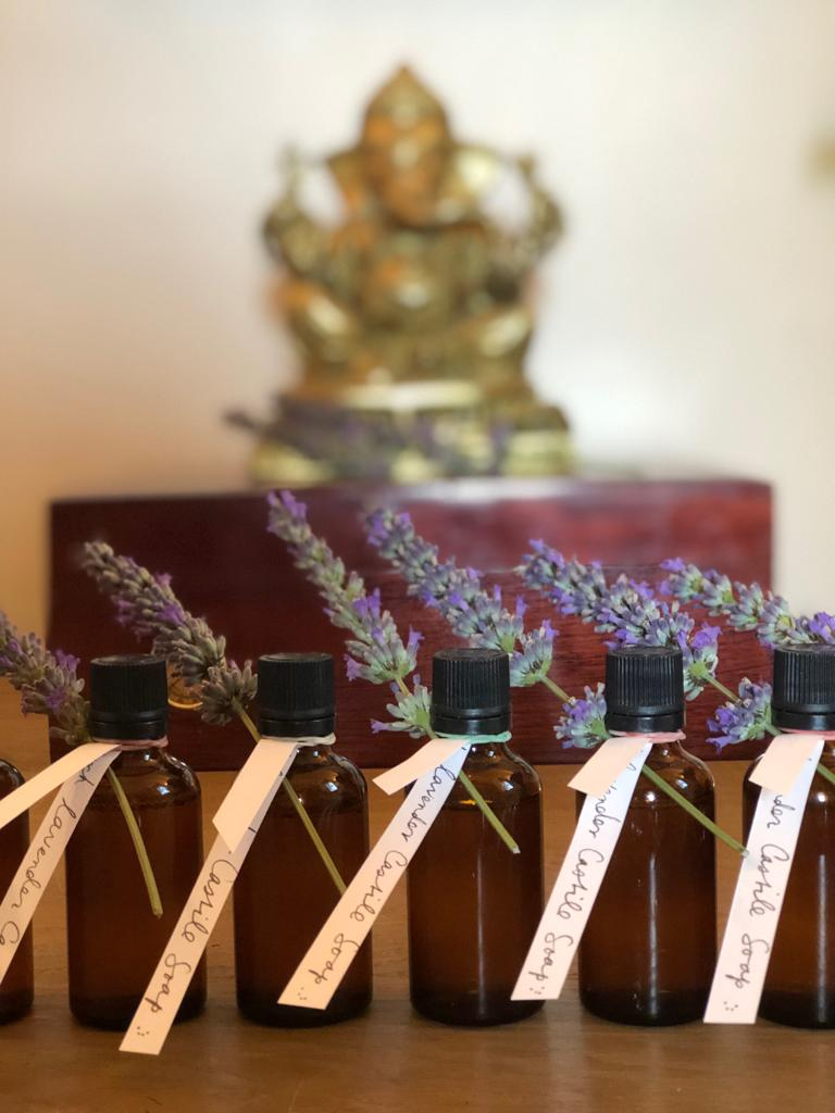 Hand-made retreat gift for you from us June 2019 - Lavender & Frankincense Pure Castille Liquid Soap - Organic… made with love