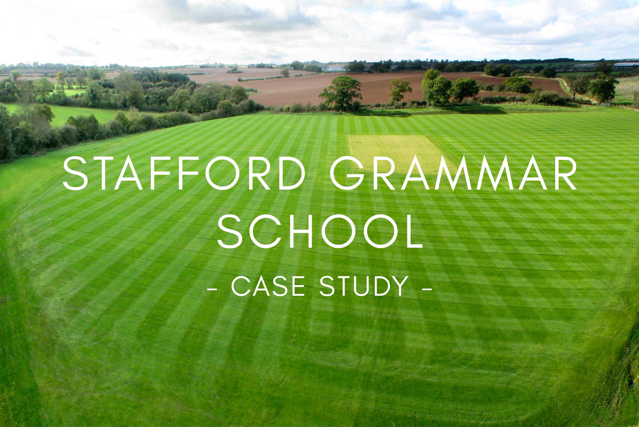 Portfolio - Stafford Grammar School Sports Pitch Design & Construction