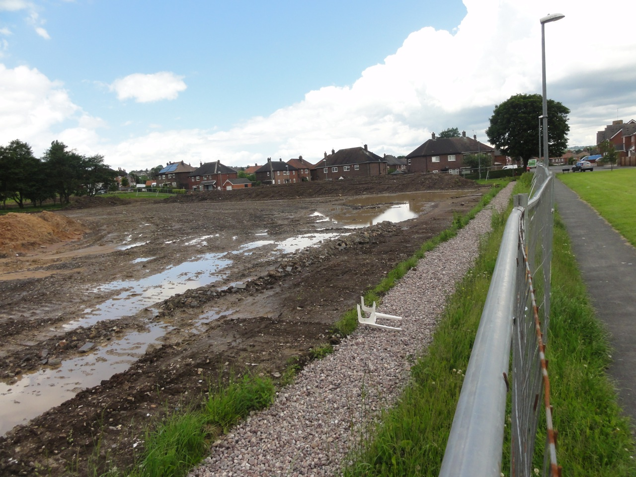 As a consequence of the poor existing ground conditions, the site held a considerable amount of water.