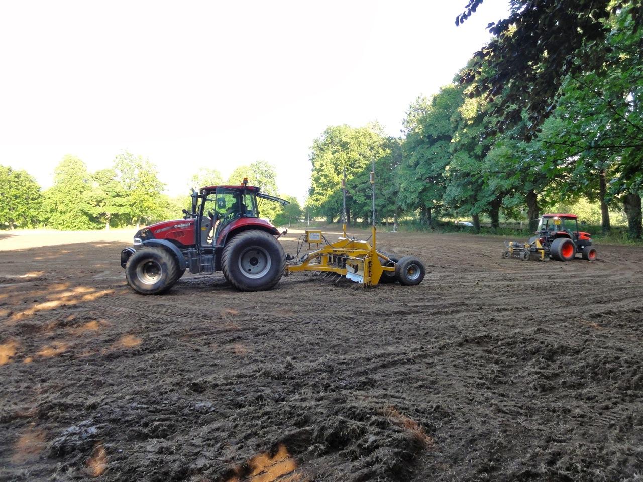 Re-grading operations underway