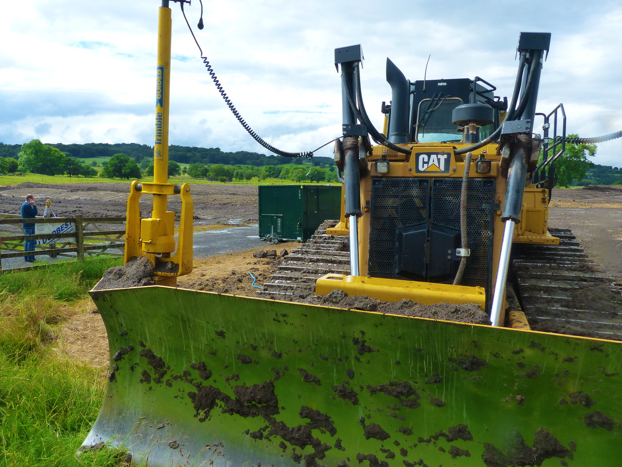 The pitch was constructed using CAT bulldozers fitted with laser-control systems linked to the 3D design model via computer software - to ensure optimal accuracy.