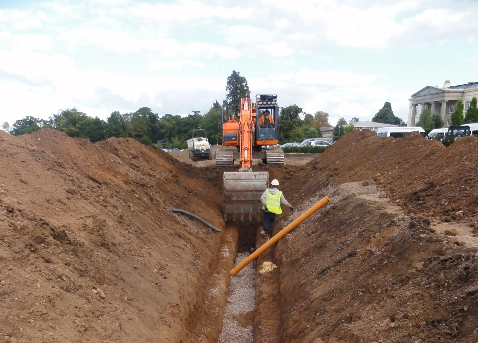 Installation of new foul sewer