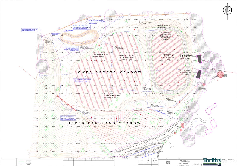 Pitch / Drainage Layout