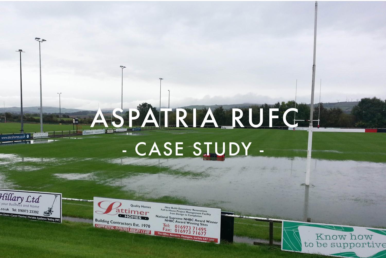 Aspatria RUFC Rugby Pitch Drainage Case Study