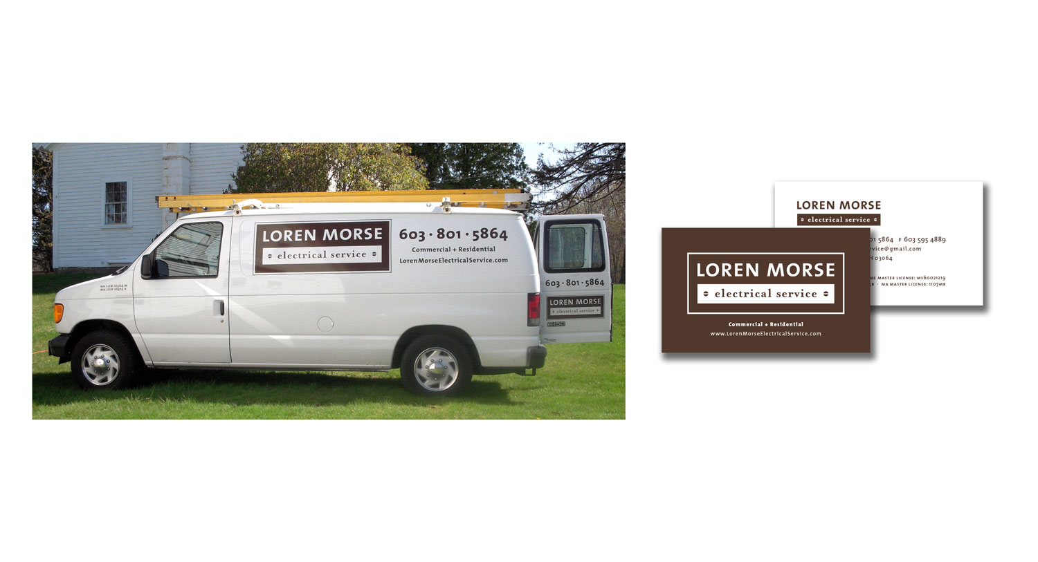 Electrician Logo and Vehicle Truck Graphic