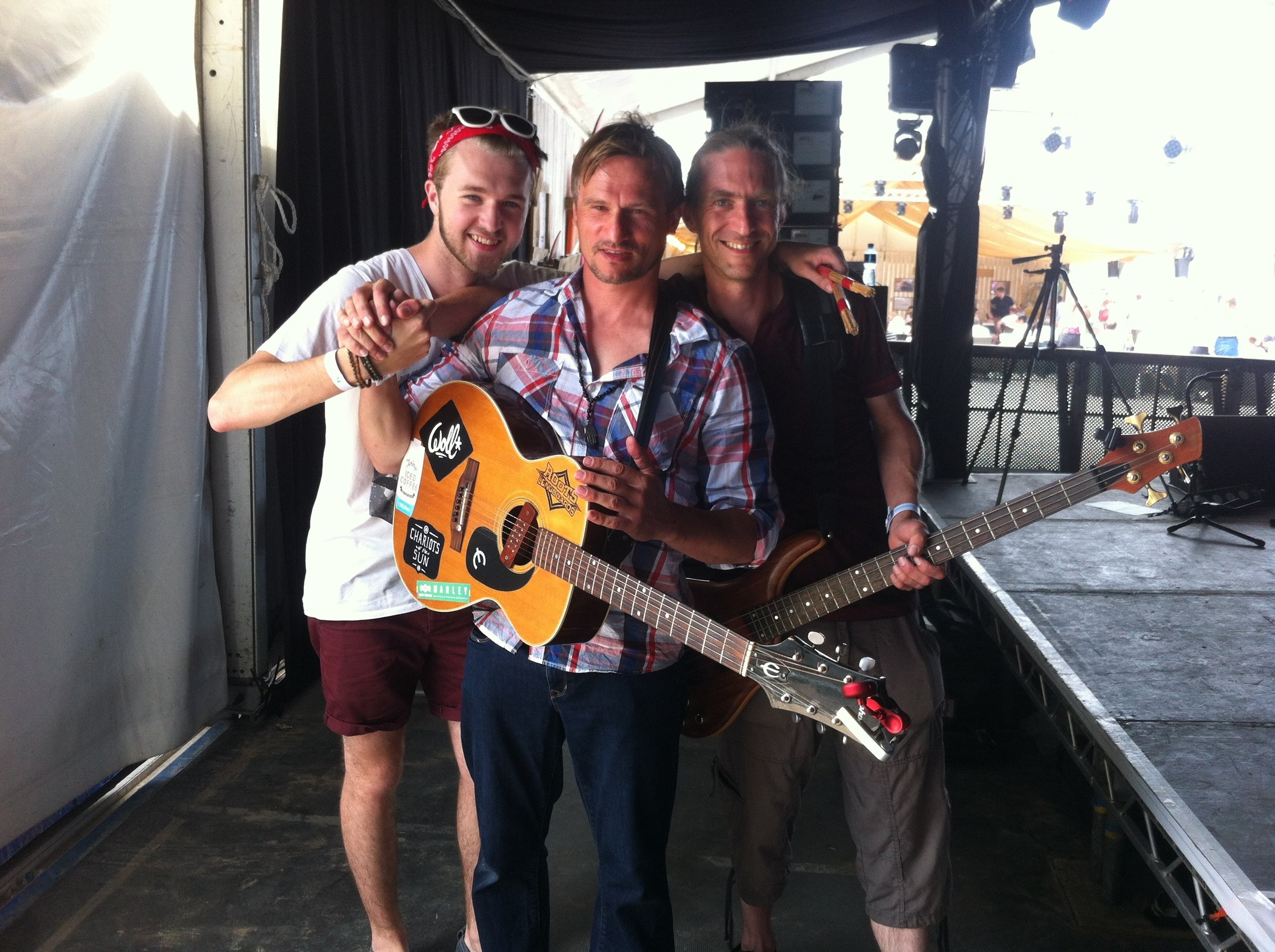 Great Gig Fella's. Backstage BOARDMASTERS SURF AND SKATE FESTIVAL 2016. Fistral Beach, Newquay, Cornwall,. England, UK. www.boardmasters.com