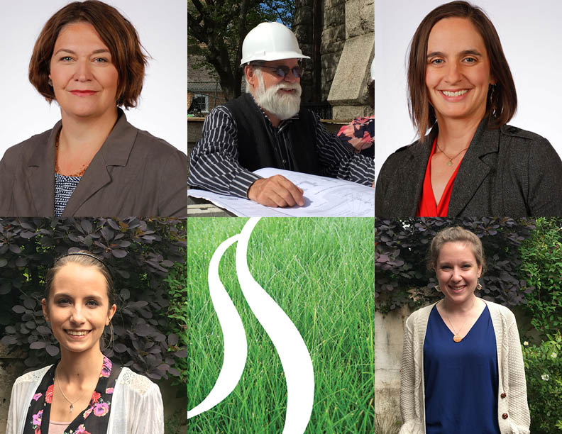Top L to R: Principle Taber Caton, Principle Colgate Searle, Associate Principle Melissa Bagga. Bottom L to R: Intern Rebecca Ladd and intern Jess Wilson.