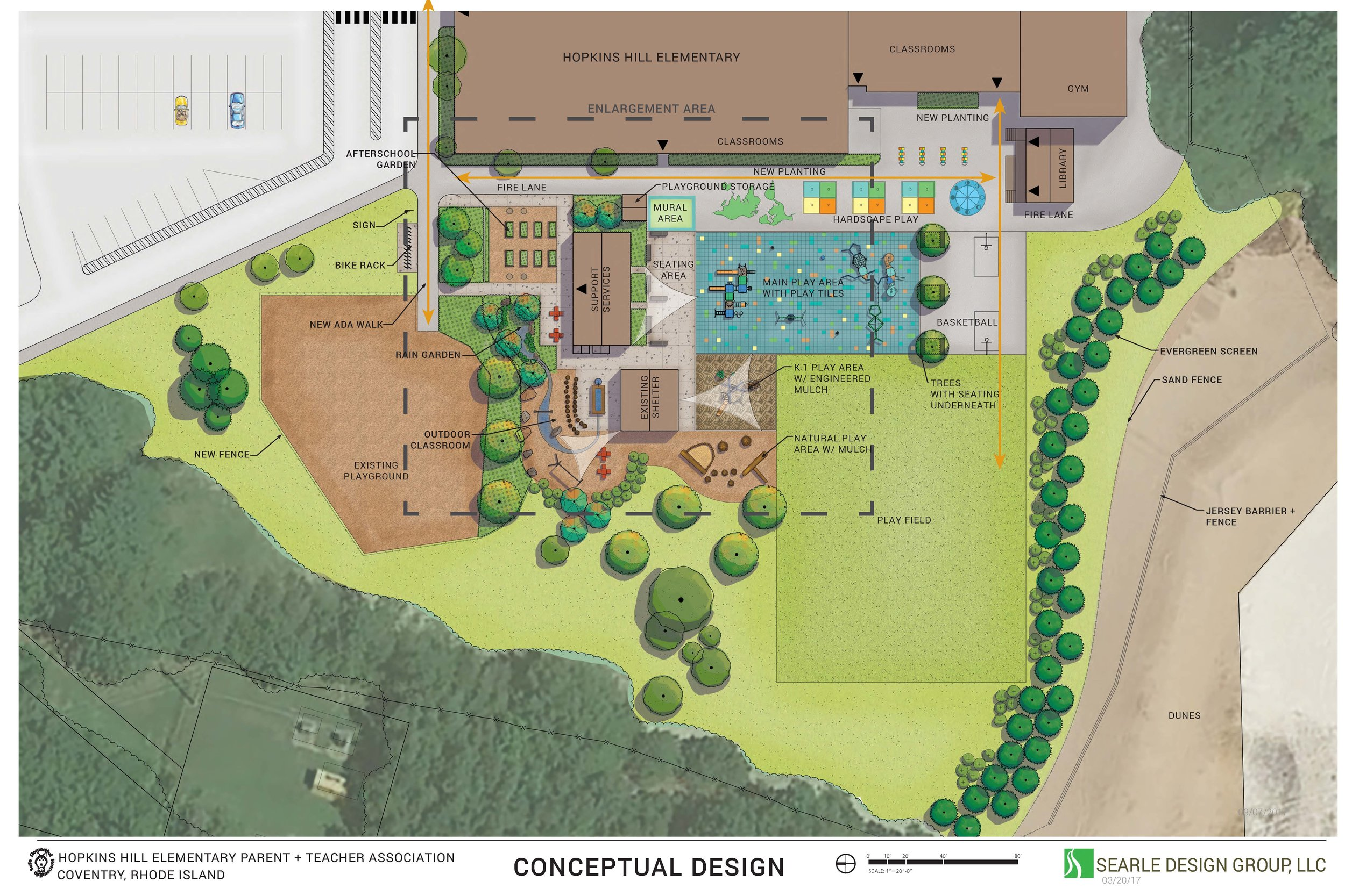 Hopkins Hill Elementary School Concept Plan Searle Design Group