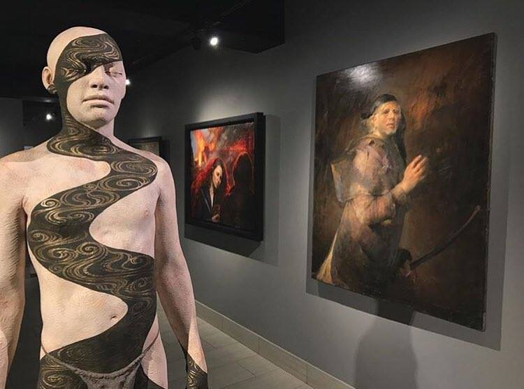 A scene from The New Baroque Exhibition