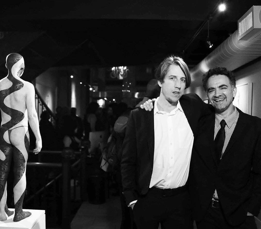 """With Casey Gleghorn, co-curators, at the opening of """"The New Baroque"""""""