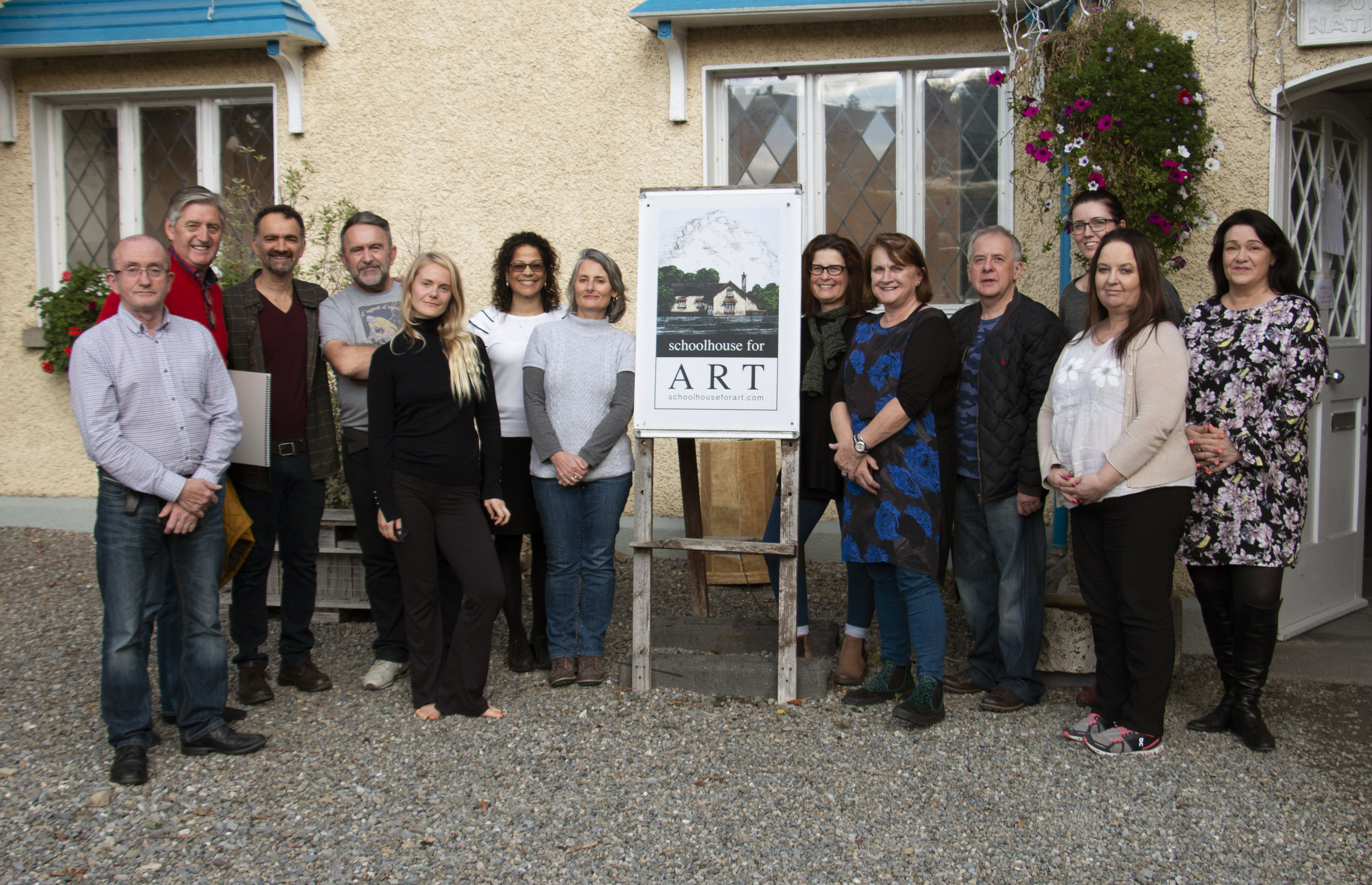 Rob with students from one of his two workshops at the Schoolhouse for Art in Enniskerry, Ireland.