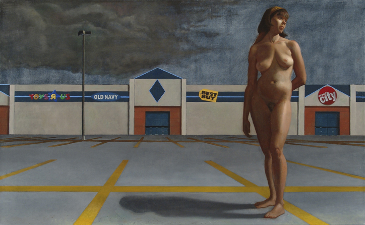 """In 2007, Zeller won the Pollock Krasner Foundation Grant in preparation for his exhibition of """"The Virgin of the Mall Series"""" at 511 Gallery in NYC."""