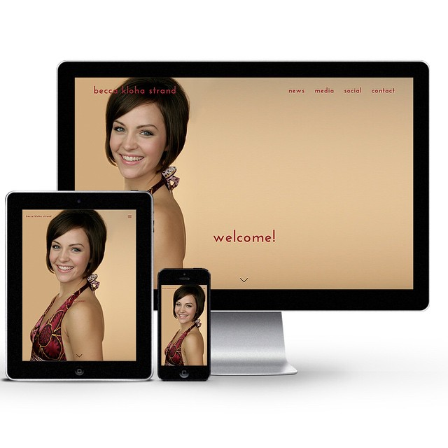 BeccaKlohaStrand.com is up and running!