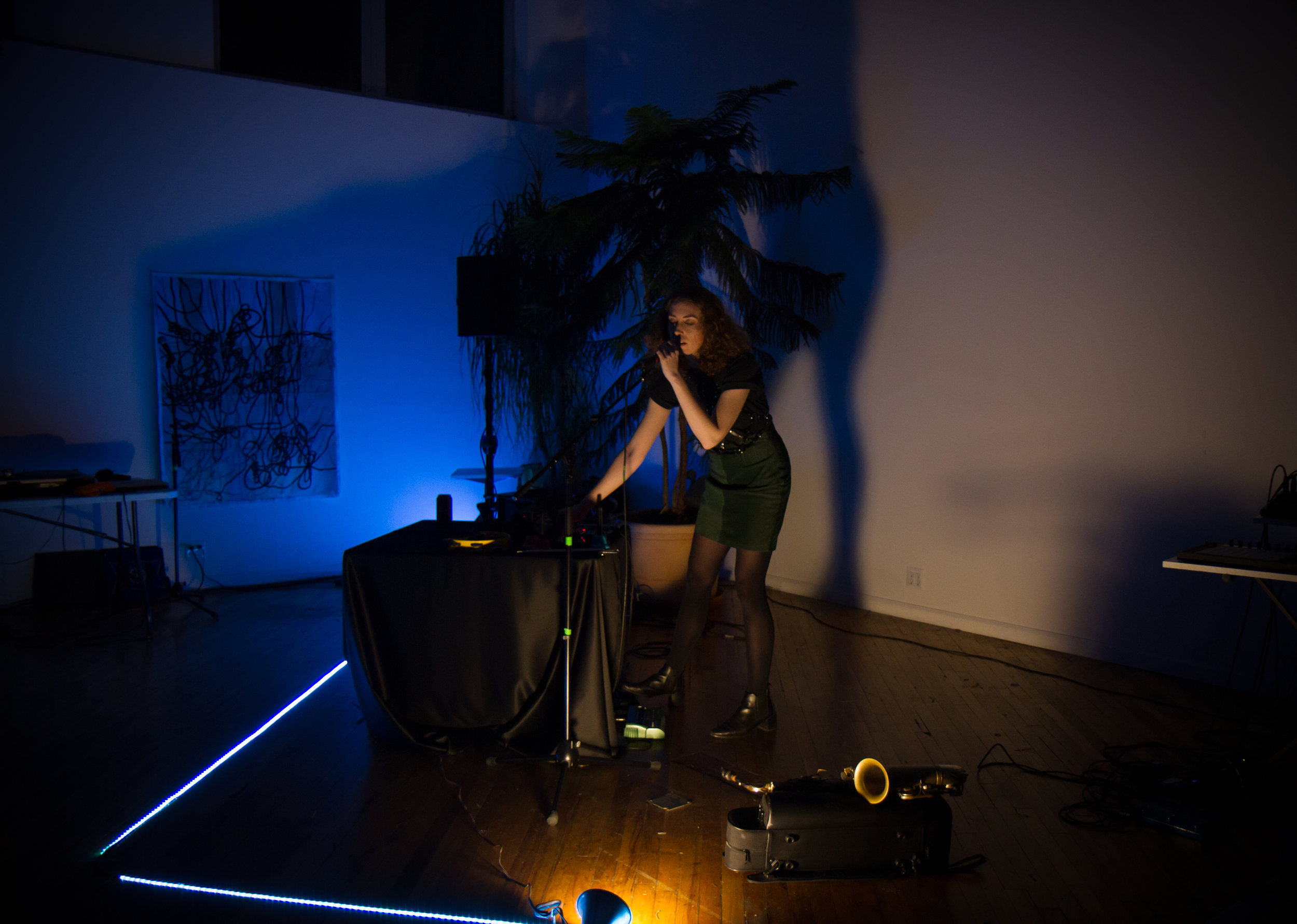 Eve Essex at Outpost Artist Resources, March 10, 2018. Photo by Wolfgang Daniel.