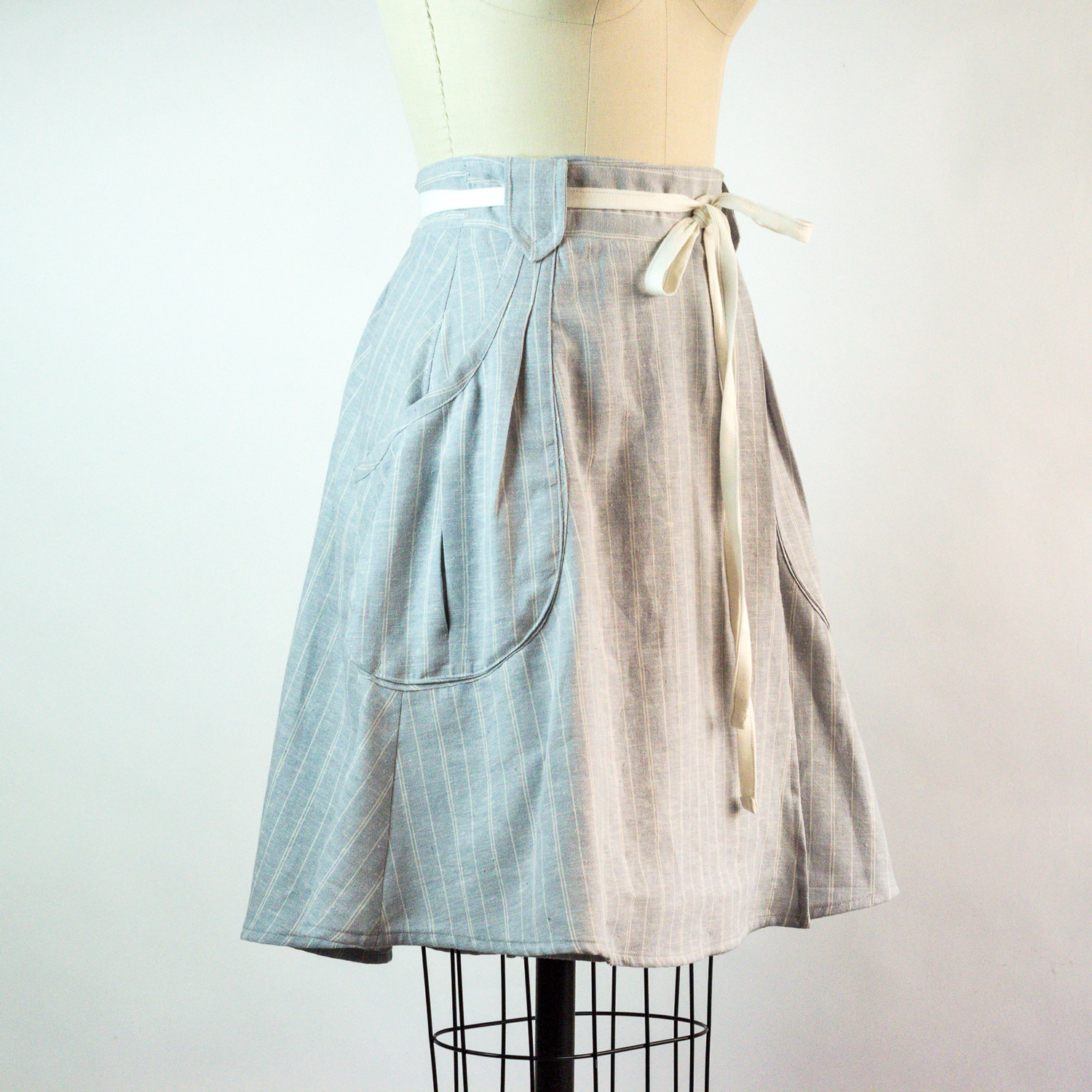 Rayna wrap skirt in organic cotton & hemp.  Click it to shop it!