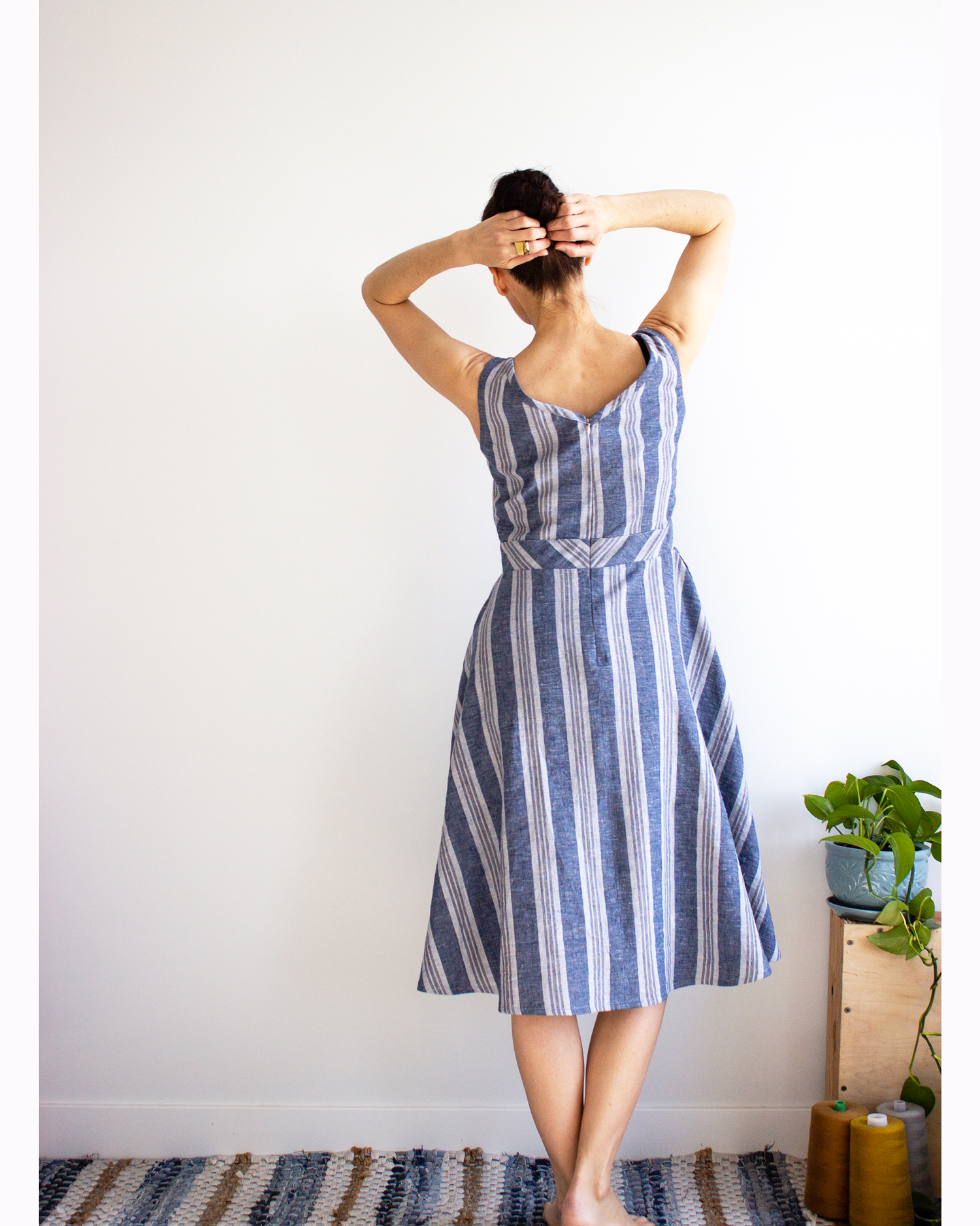 Our organic cotton & hemp  Marilla  dress is  the  frock that will inspire your plans for days at the beach, walks on boardwalks with chilled coffee in hand and dates with someone that makes you feel special.