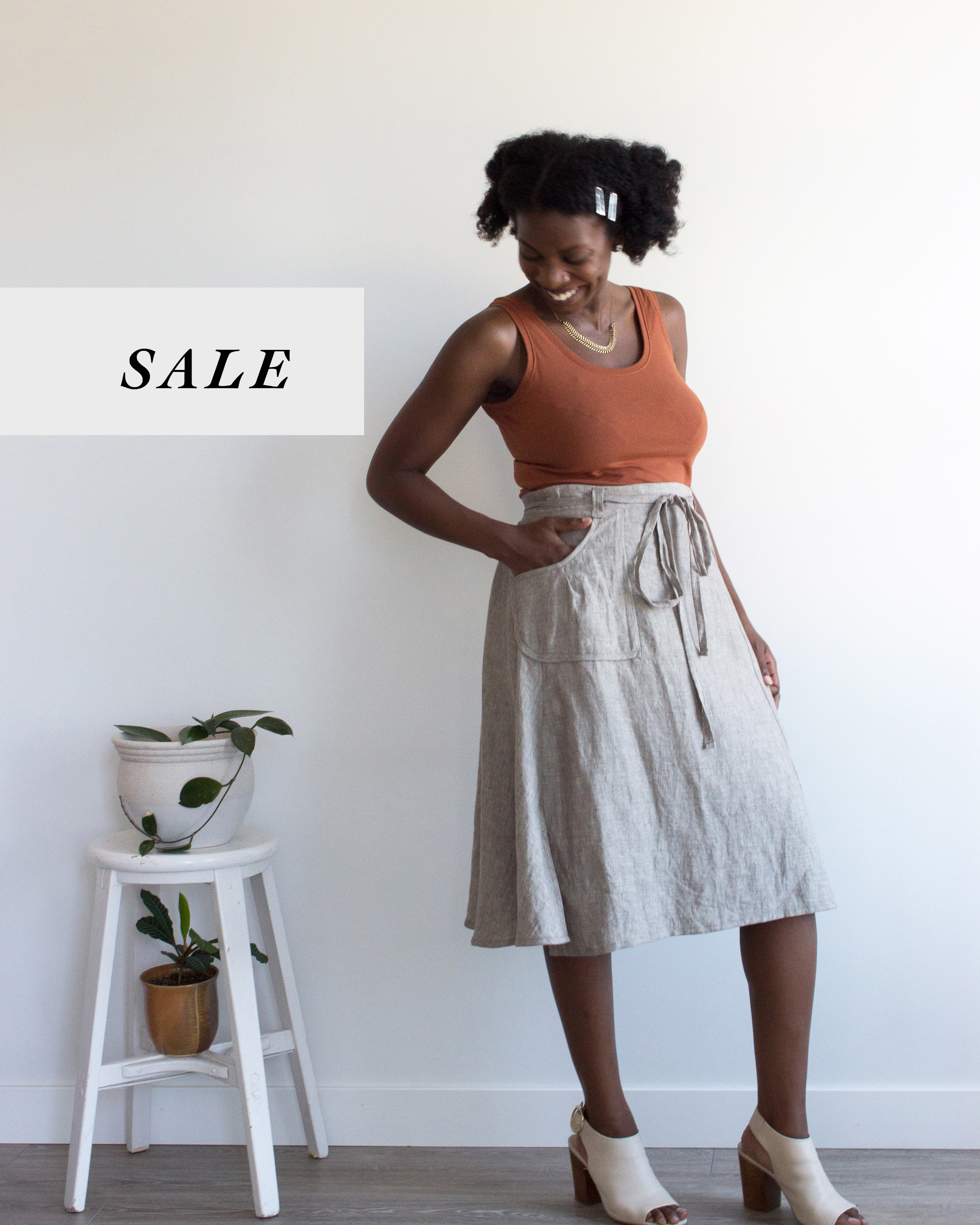 "Sakae wrap skirt  - last in stock now on sale! (Size XL or 33"" to 35/36"" waist)"