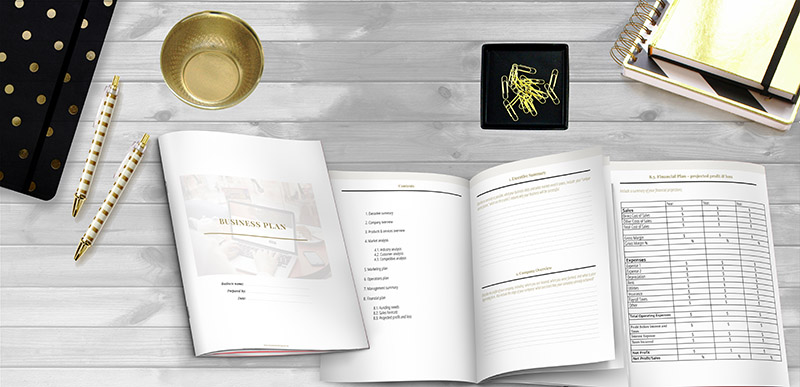 Business plan template Enovate Marketing