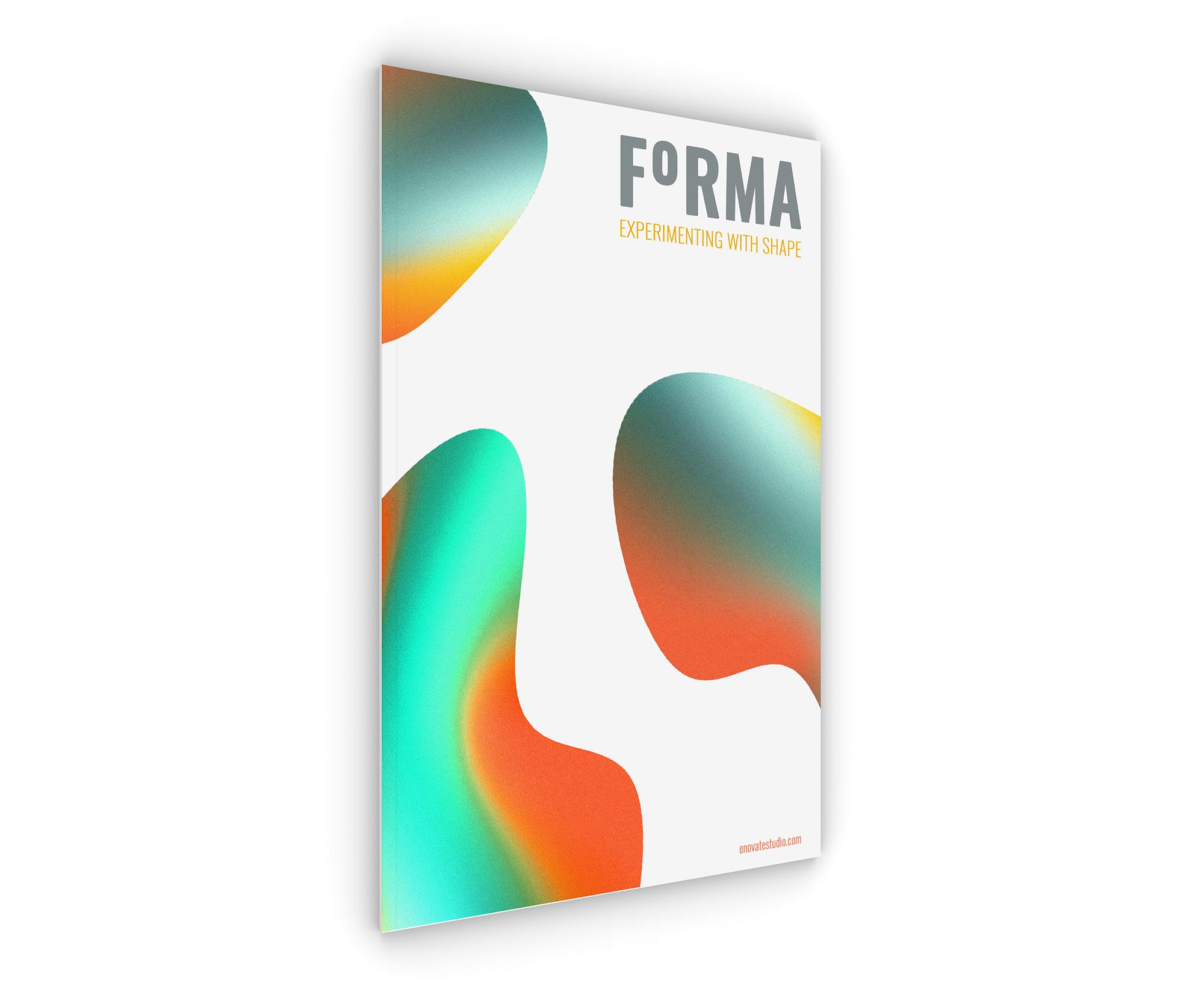 Personal project. Magazine cover design.