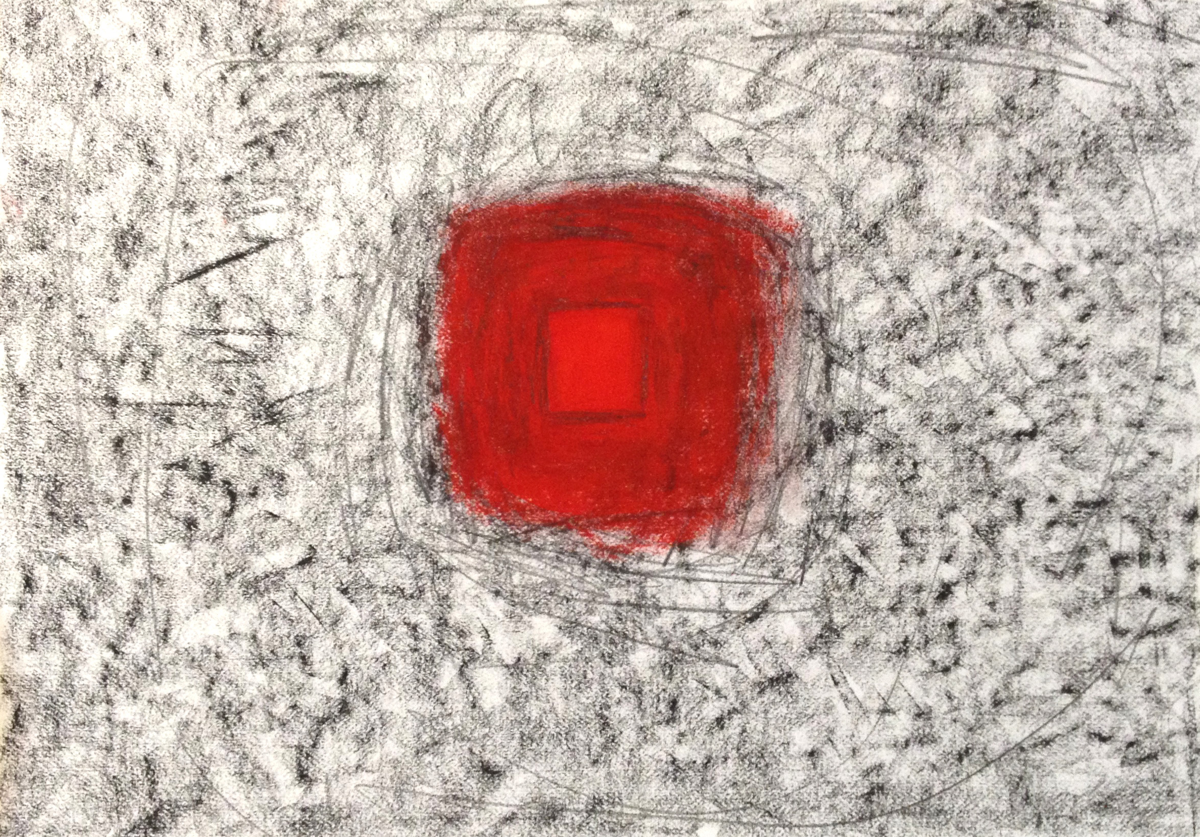 """Red Pools 2  22"""" x 30"""" Pastel on paper 2014"""
