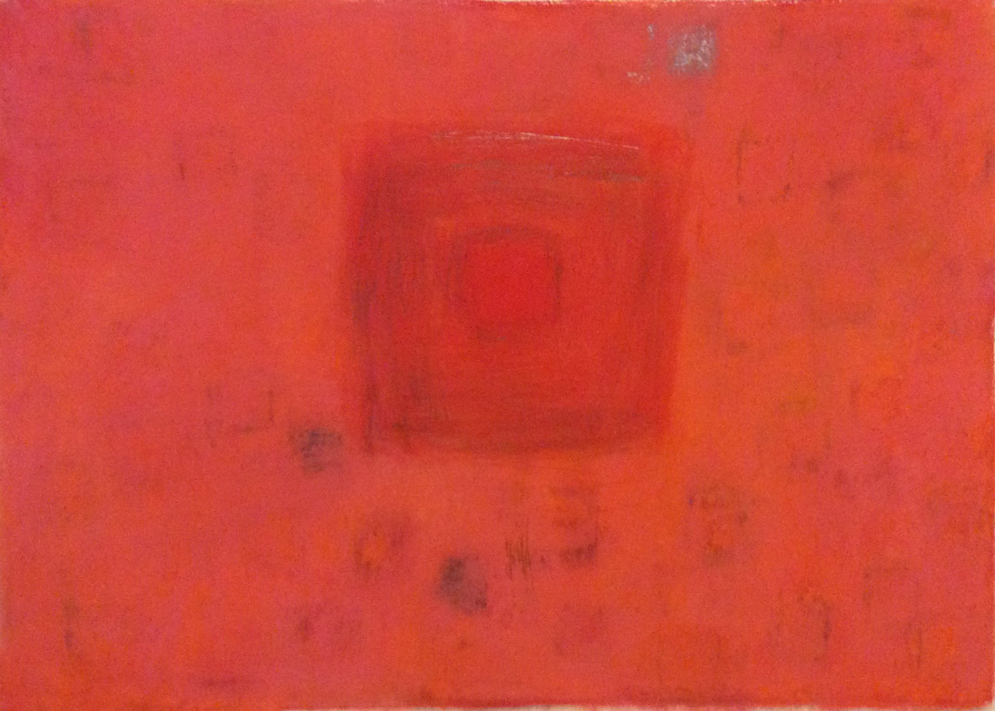 """Red Pools 7  22"""" x 30"""" Pastel on paper 2014"""