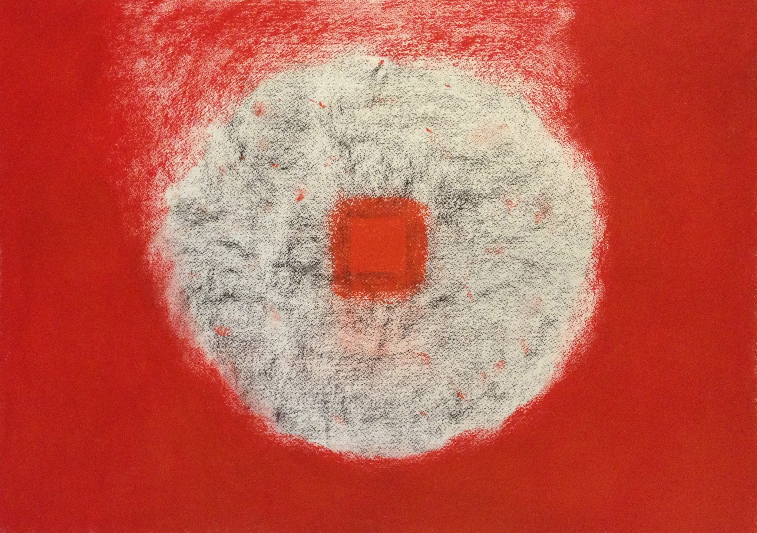 """Red Pools 6  22"""" x 30"""" Pastel on paper 2014"""