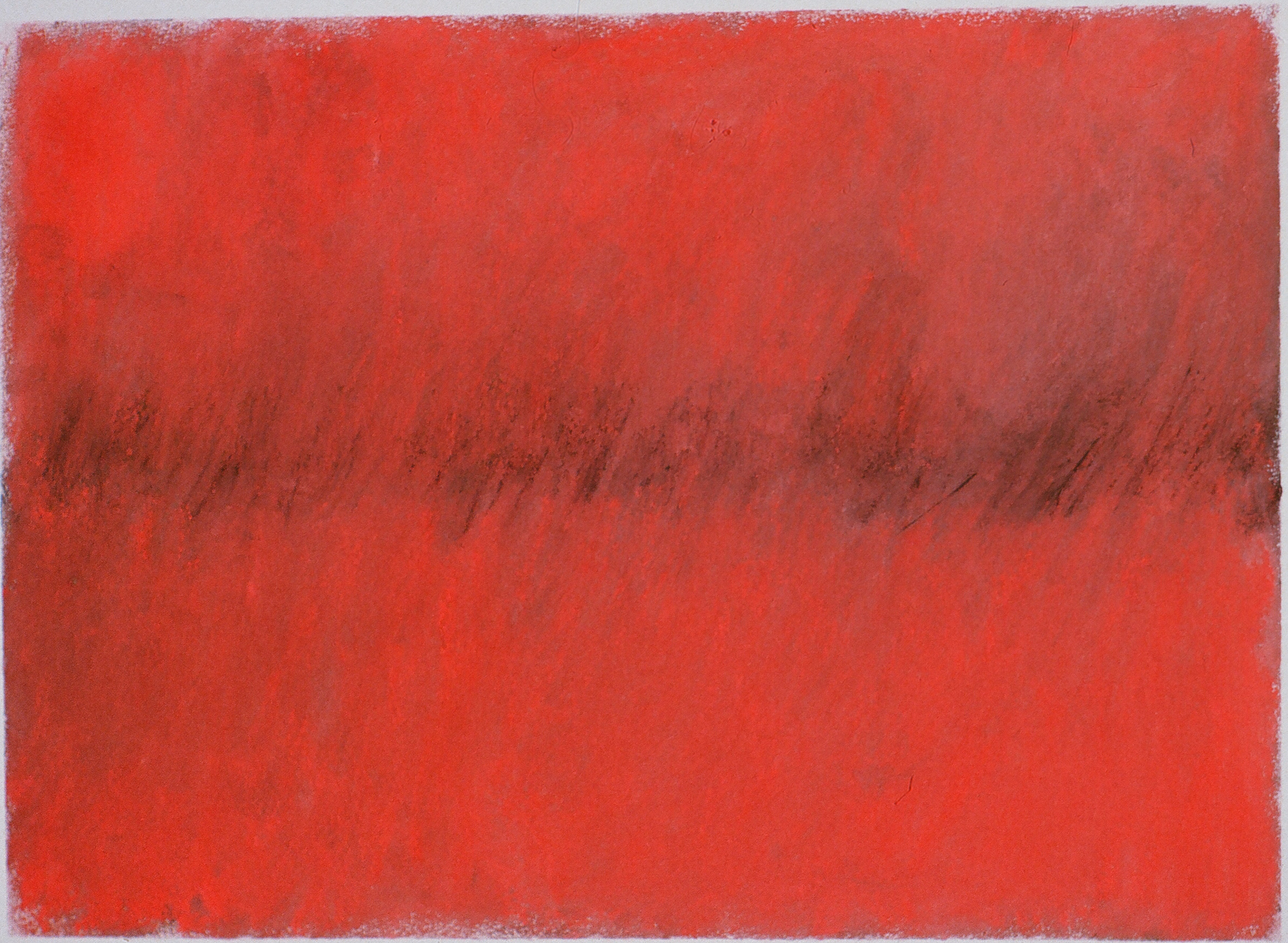 "Red Field   17"" x 22.5"" Pastel on paper 2001"