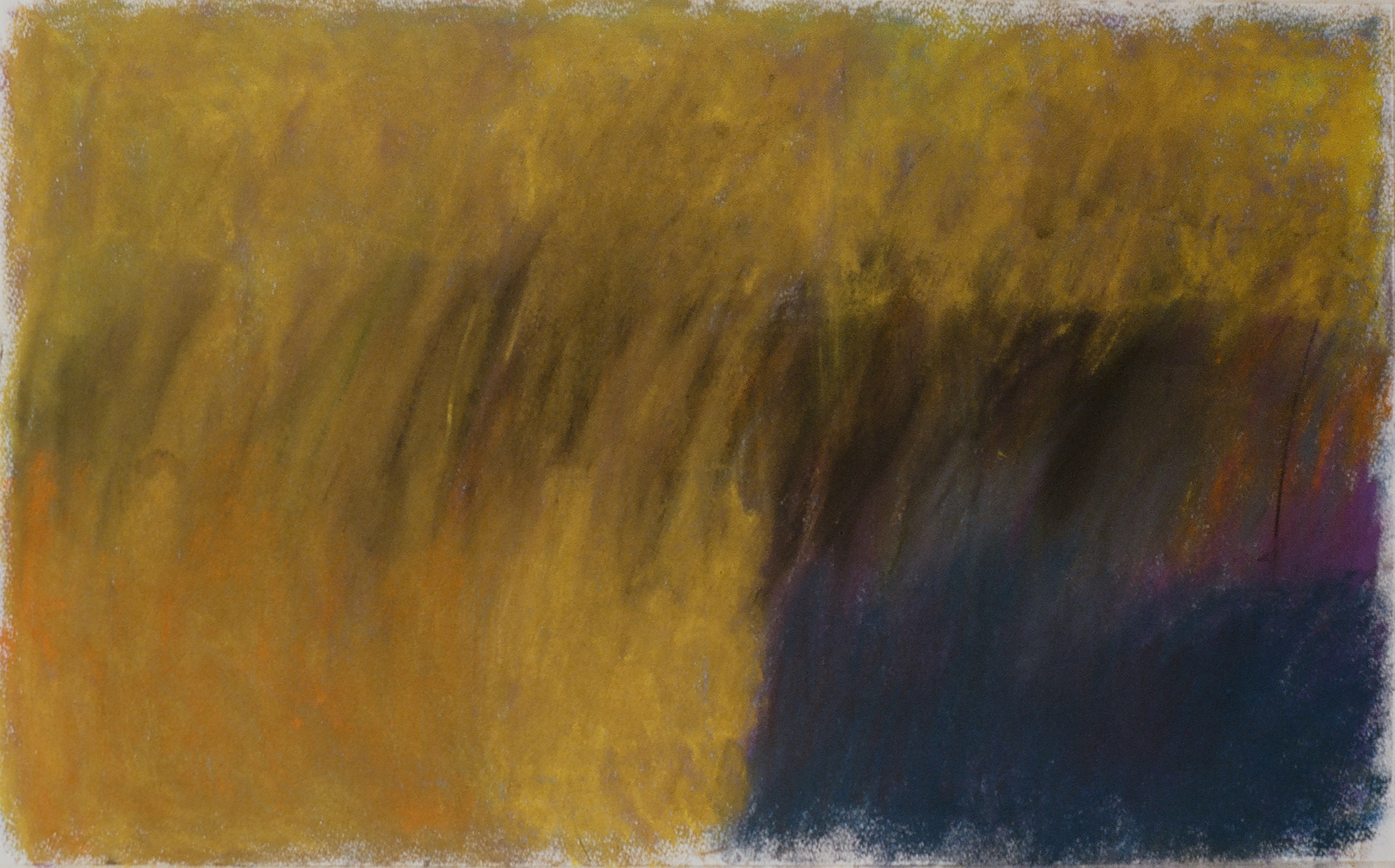 "Yellow Field 2  22"" x 36"" Pastel on paper 2001"