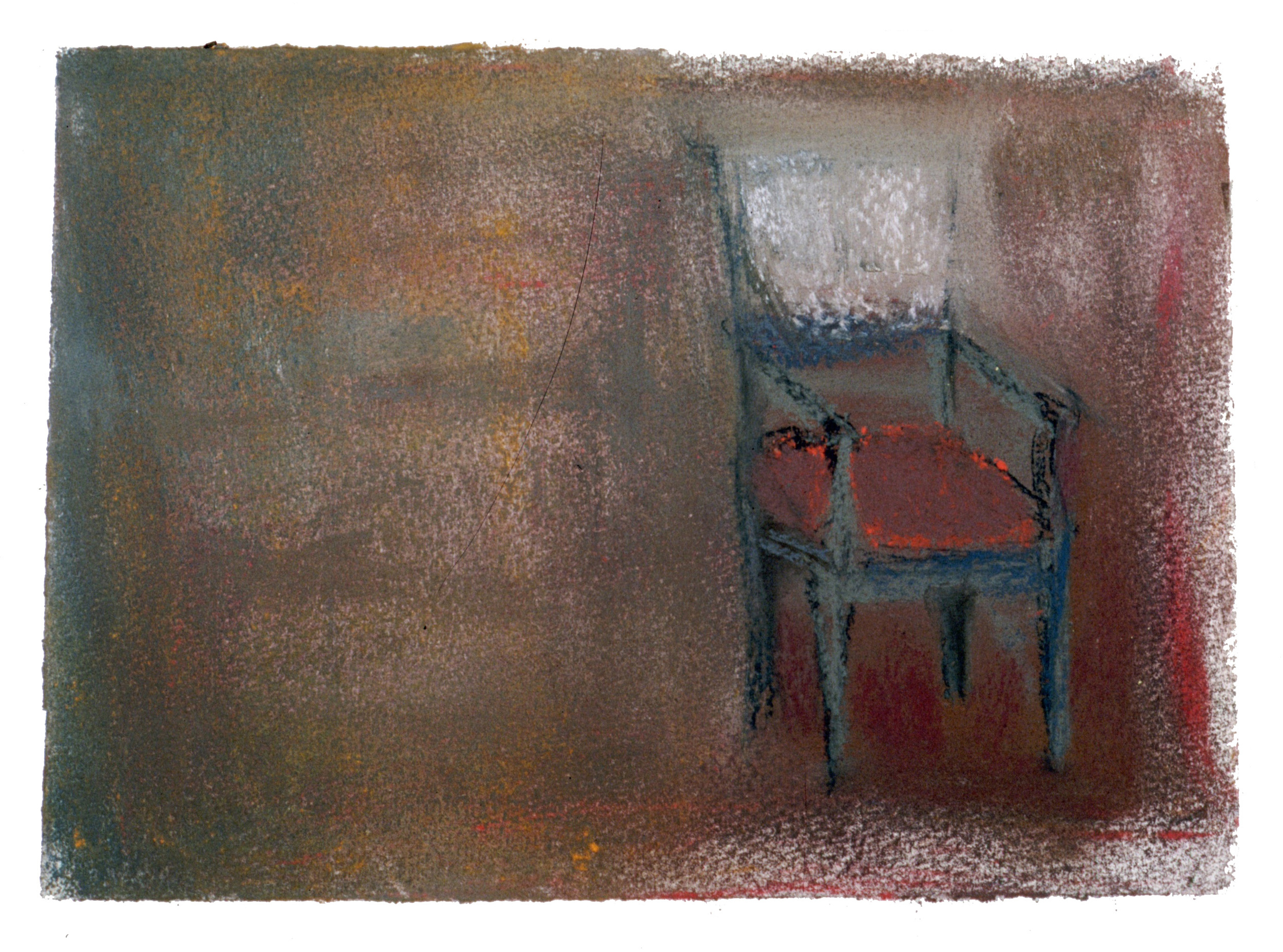 "Chair 3  8"" x 11"" Pastel on paper 2001"