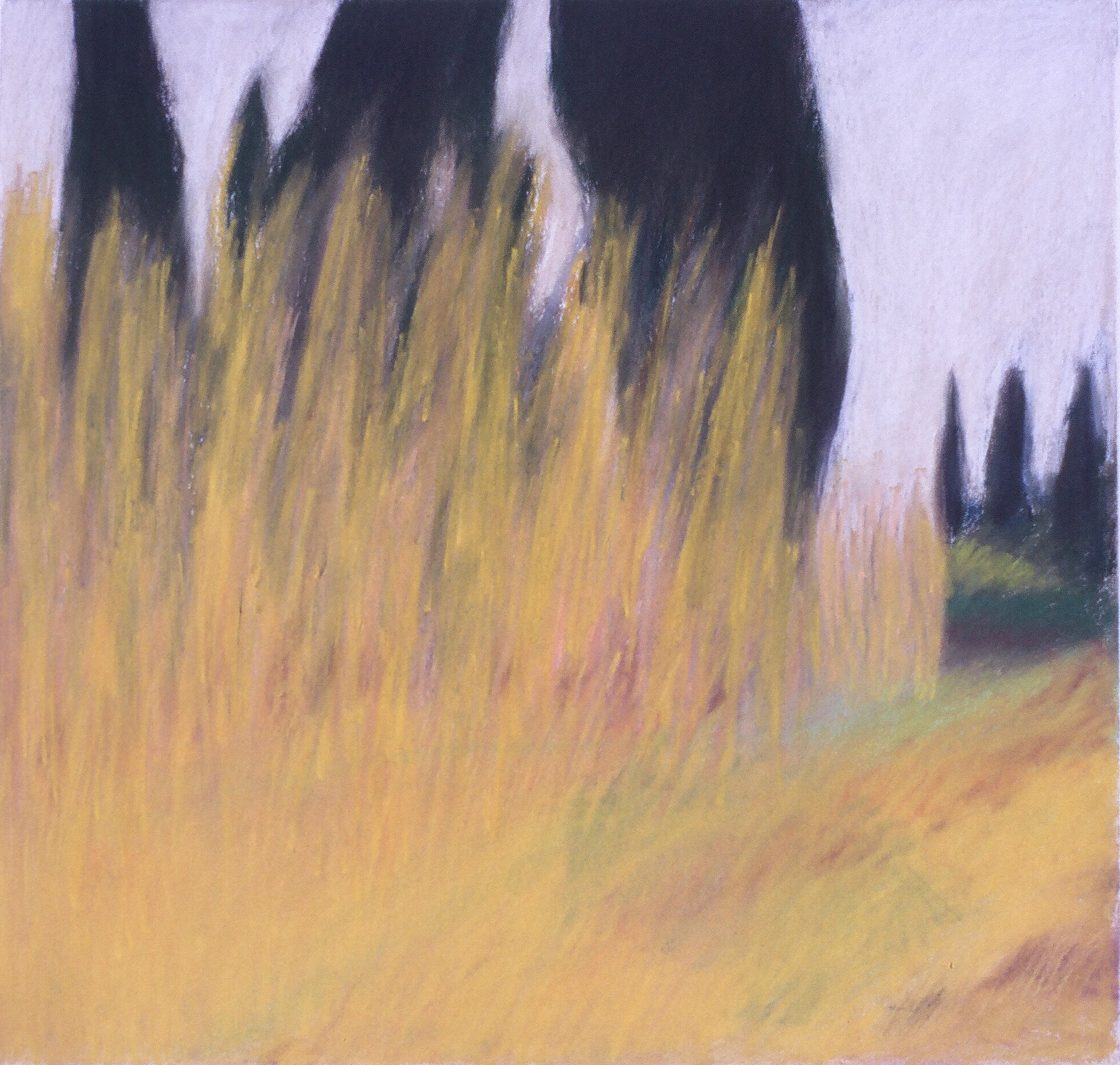 "Travels in the South of France 8  16.25"" x 17"" Pastel on paper 1991"