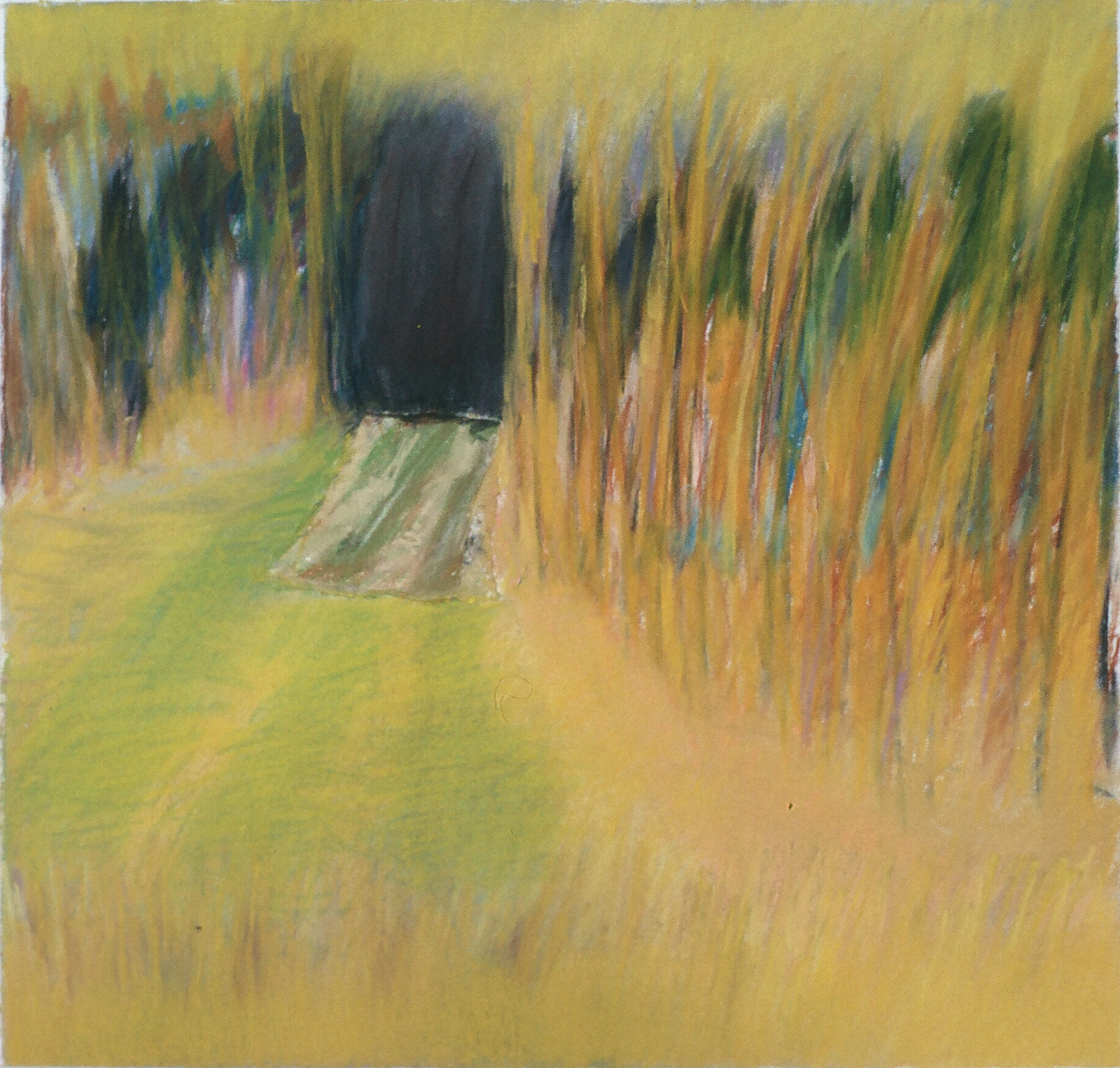 "Travels in the South of France 10  15.25"" x 16"" Pastel on paper 1991"