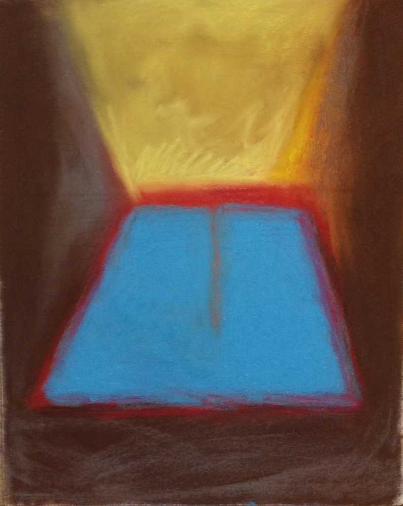 """Between Heaven and Earth 1  20"""" x 16"""" Pastel on paper 2013"""