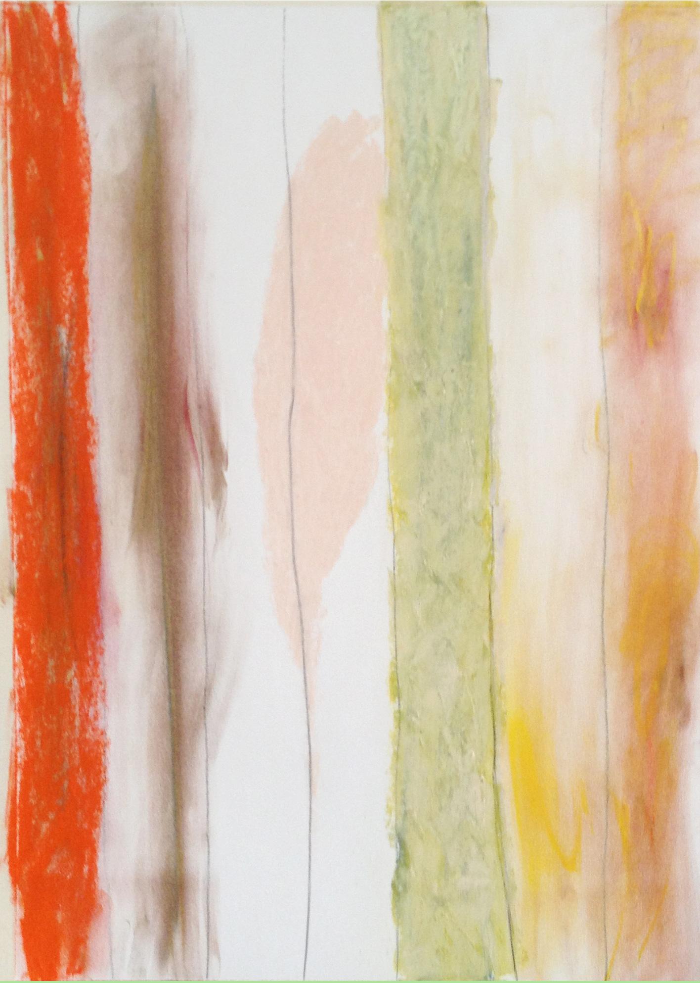 """Winter Haiku  36"""" x 22"""" Pastel on paper 2013"""