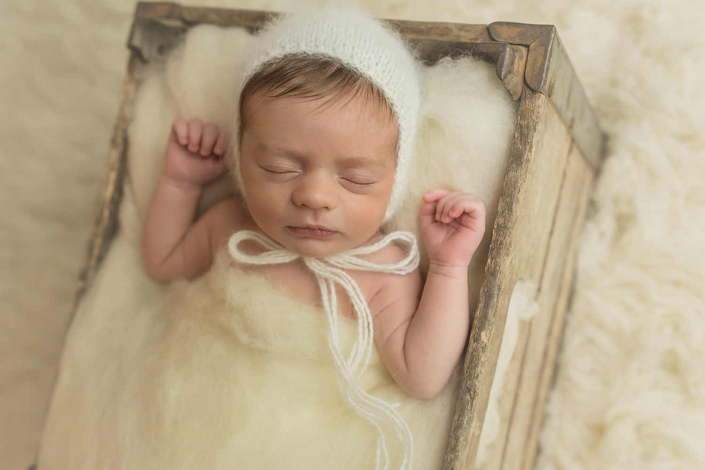 Baltimore Maryland Newborn Baby Photographer boy crate