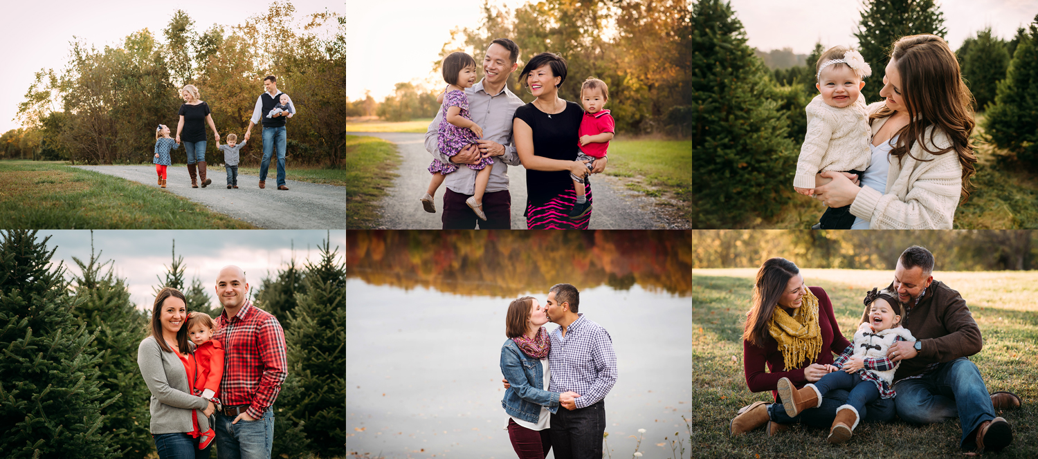 Baltimore Maryland Family Photographer Fall 2017 collage