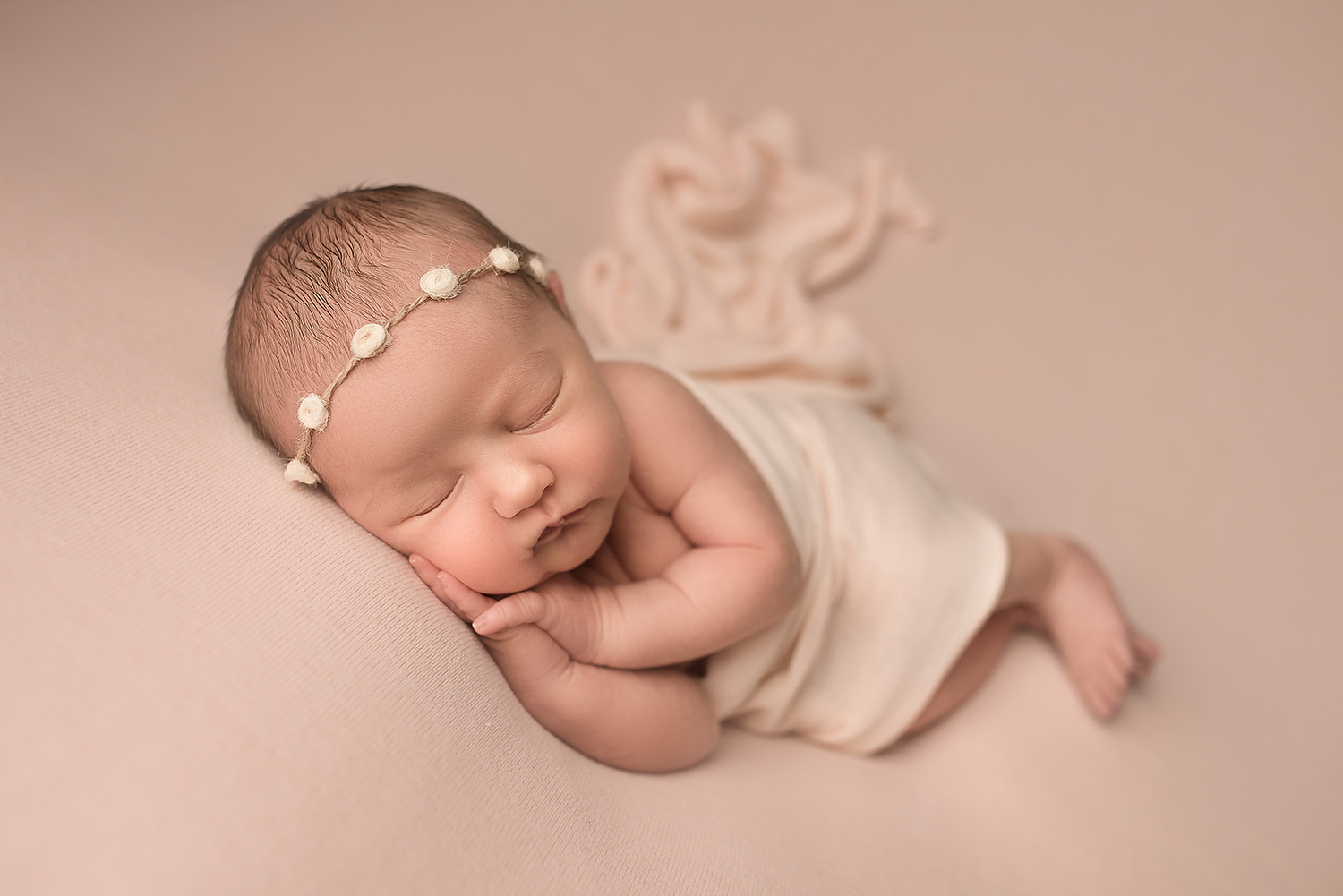 Baltimore Howard County Maryland Newborn Photographer Jessica Fenfert baby girl on pink