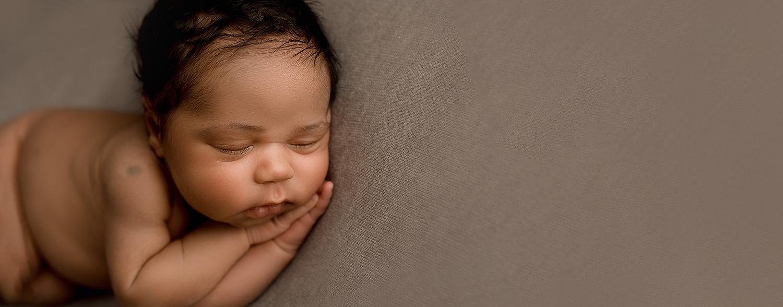 Baltimore Maryland Newborn Photographer Jessica Fenfert baby boy on brown