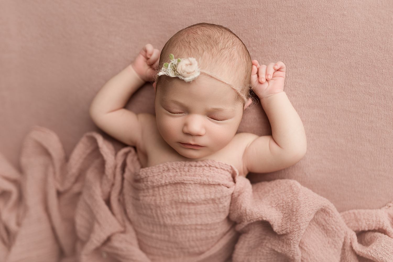 Jessica Fenfert Baltimore Maryland Newborn Photographer pink
