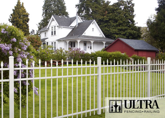 UAS-150 Residential Fence with Staggered Spears