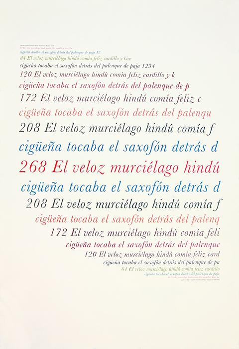 """Altazor (Vicente Huidobro)  , 2014    Lápiz de color, papel /Coloured pencil, paper     190 x 130 cm    *El texto tiene la misma área de color que la tinta usada para imprimir una edición de """"Altazor"""" de Vicente Huidobro; el papel tiene la misma área que las páginas del libro / The text has the same area of color as the ink used to print an edition of Vicente Huidobro's """"Altazor""""; the paper has the same area of the pages of the book."""