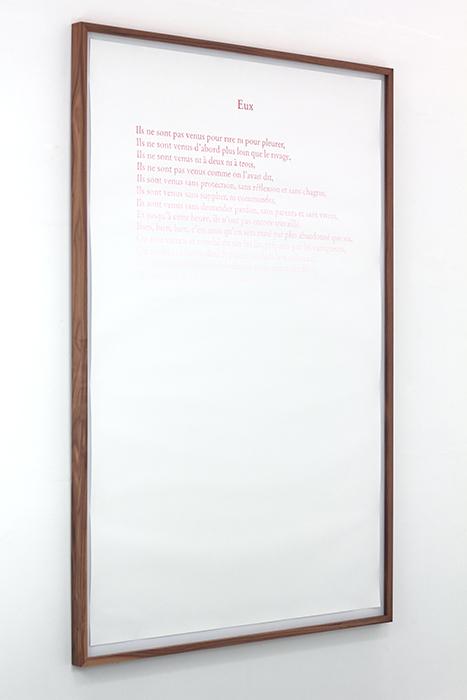 Eux  , 2013    Lápiz  de color, papel / Coloured pencil, paper    150 x 100 cm