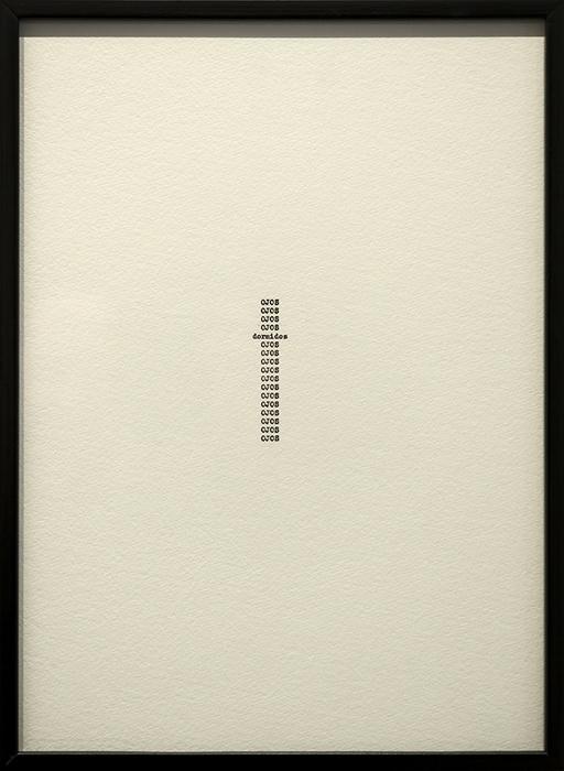 Nocturnos (Xavier Villaurrutia)    /    Nocturnes (Xavier Villaurrutia)    ,        2016    Tinta sobre papel / Ink on paper    Políptico de 17 piezas de 37.5 x 27.5 cm cada una / Polyptych of 17 pieces of 37.5 x 27.5 cm each    Detalle / Detail