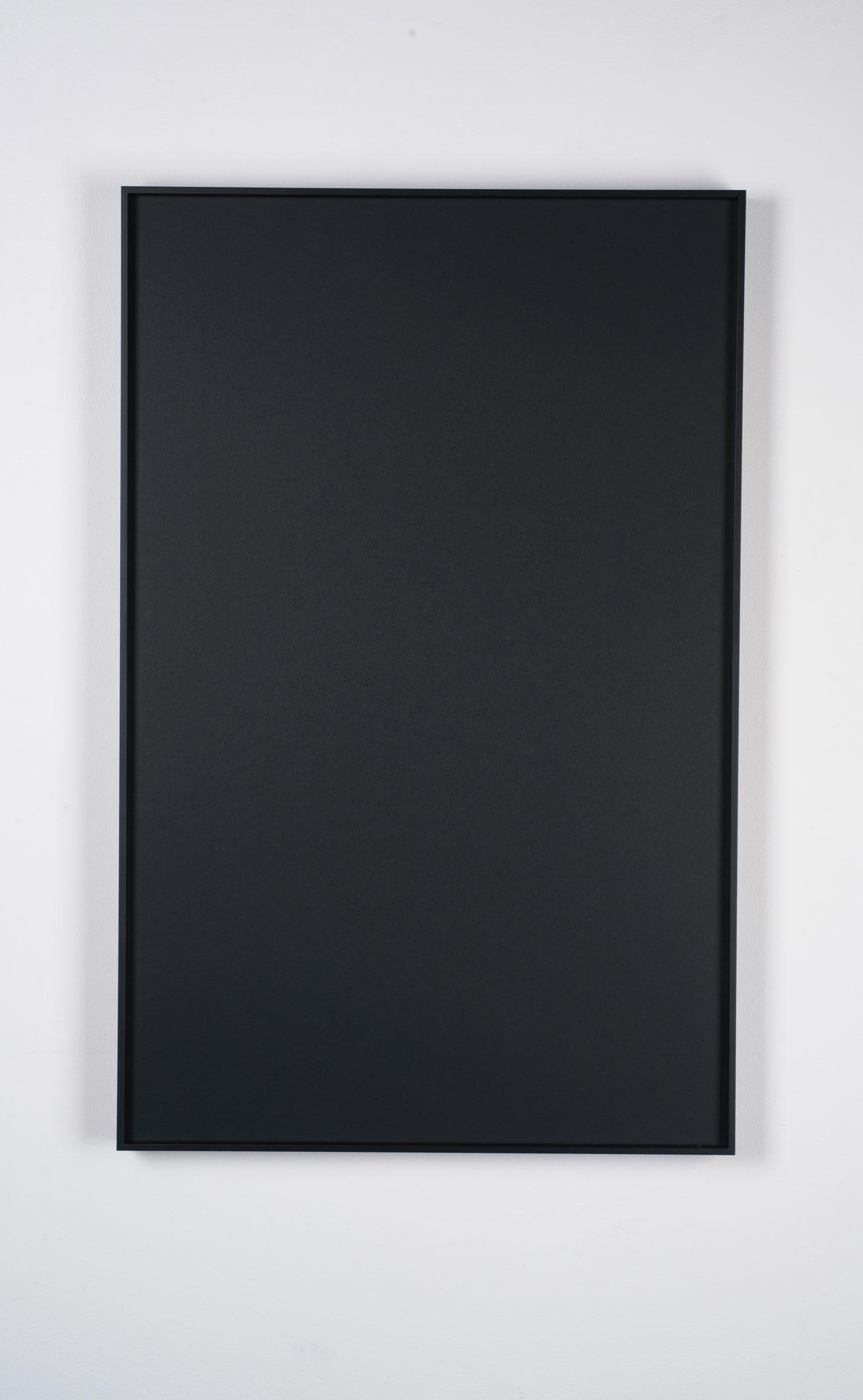La falta de ortografía de Apollinaire II (negro) / Apollinaire's Misspell II (Black)  , 2017  Bajo relieve sobre papel / Bas-relief on paper  70 x 45 cm
