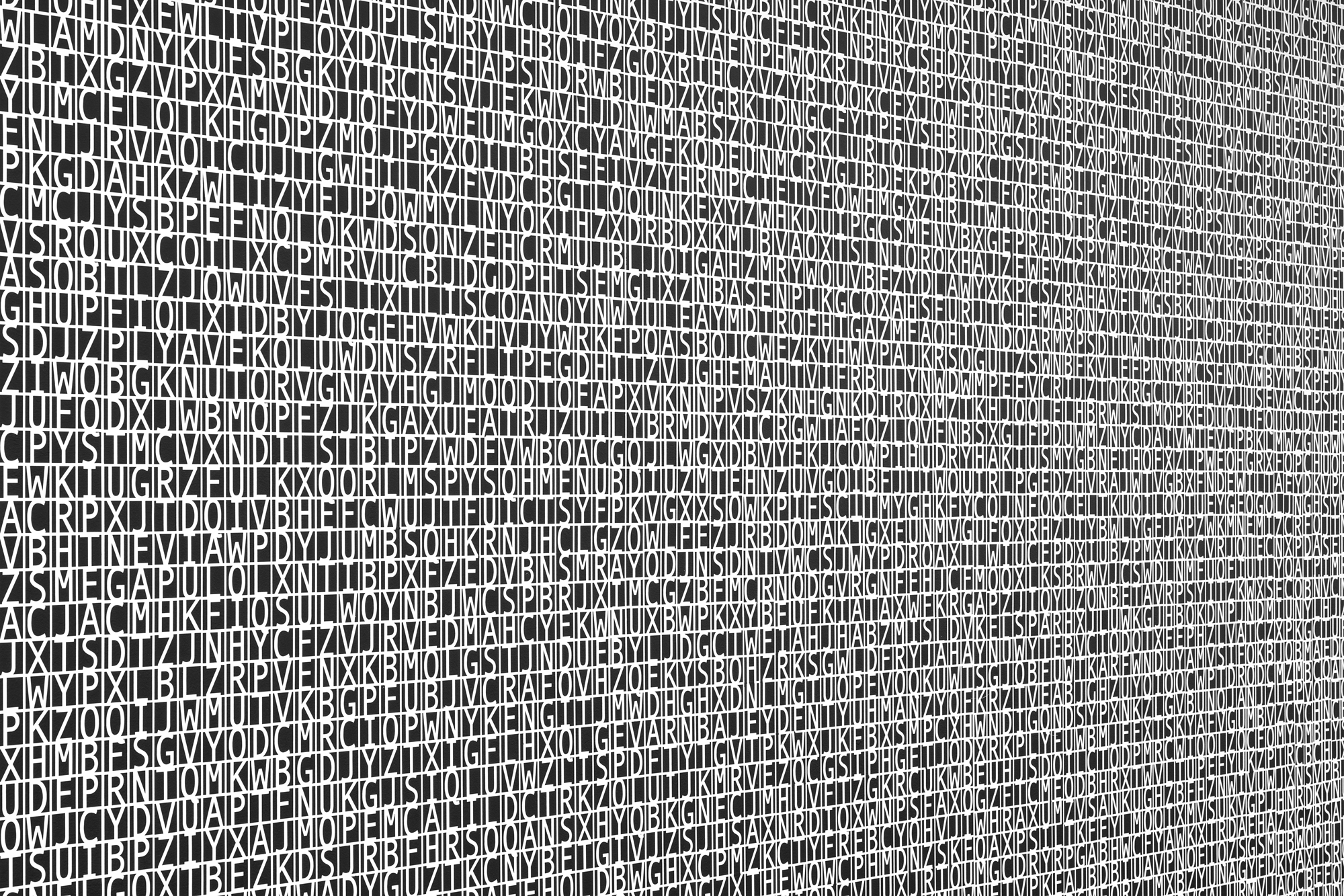 Lenguaje desmantelado (Marfa) / Dismantled Language (Marfa),  2017  Pintura sobre muro / Paint on Wall  335 x 1788 cm