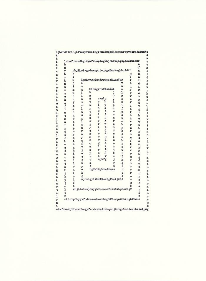 El emperador ha enviado un mensaje / The Emperor Has Sent a Message    ,   2017  Tinta sobre papel / Ink on paper  Políptico de 8 piezas de 37.5 x 27.5 cm cada una / Polyptych of 7 pieces of 37.5 x 25.5 cm each one  Detalle / Detail